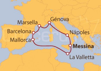 Crucero Italia, Malta, España y Francia