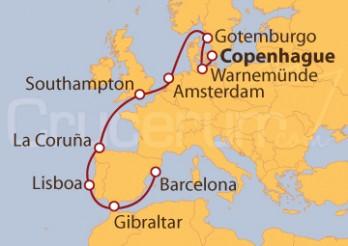 Crucero De Copenhague (Dinamarca) a Barcelona