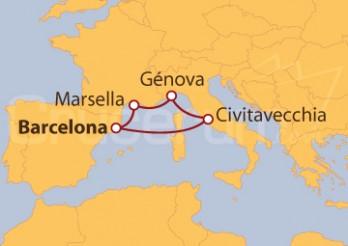 Crucero España, Italia y Francia