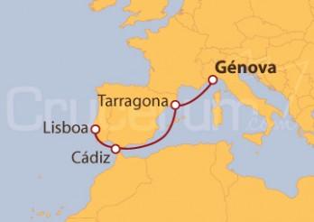 Crucero De Génova (Italia) a Lisboa (Portugal)