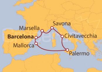 Crucero Maravilloso Mediterráneo