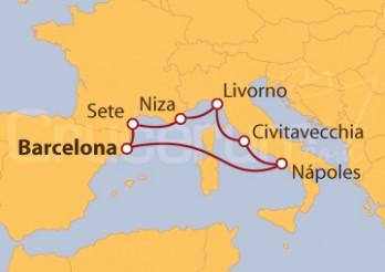 Crucero 5 Maravillas del Mediterráneo 2019