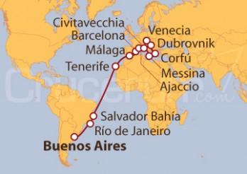 Crucero Desde Buenos Aires (Argentina) a Venecia