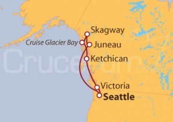 Crucero Alaska: Pasaje Interior y Bahía de los Glaciares