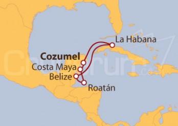 Crucero México, Cuba, Belice, Honduras
