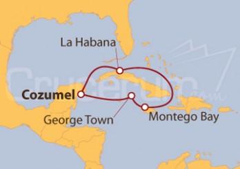 Crucero Caribe Occidental: La Habana desde Cozumel