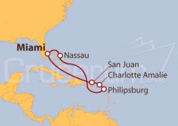 Crucero Las Bahamas y Las Islas Vírgenes de EE UU