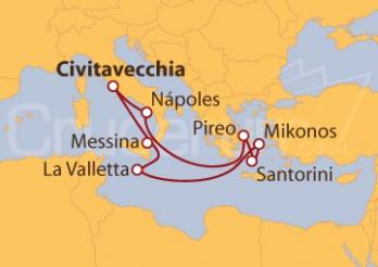 Crucero Rumbo a las Islas Griegas desde Italia