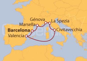 Crucero En el corazón del Mediterráneo