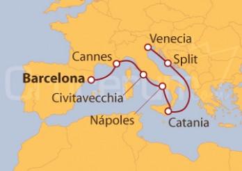 Crucero De Barcelona a Venecia