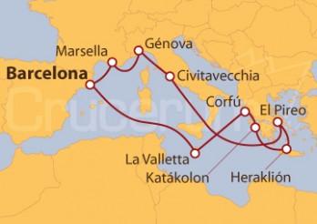 Crucero Surcando el mar de los antiguos griegos