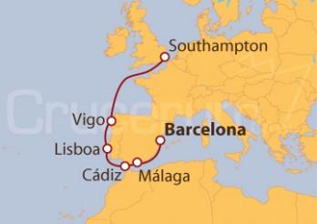 Crucero De Barcelona a Southampton (UK)