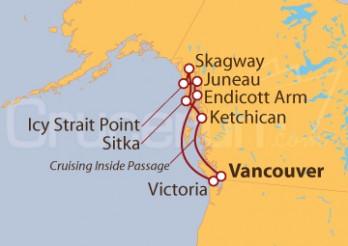 Crucero Alaska con Vuelos y Traslados INCLUIDOS