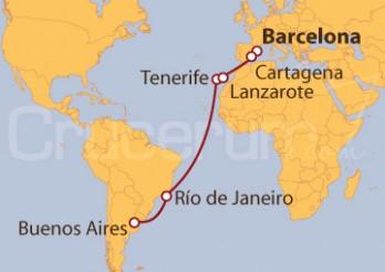 Crucero De Barcelona a Buenos Aires (Argentina)