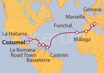 Crucero De Cozumel (México) a Génova (Italia)