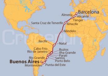 Crucero Atlántico y Más Allá: Buenos Aires - Barcelona