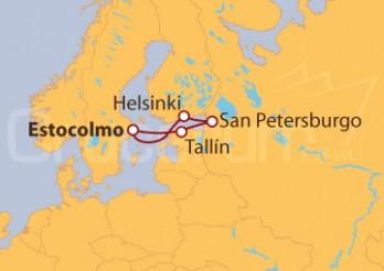 Crucero Joyas del Báltico, TODO INCLUIDO (bebidas, propinas, vuelos y excursión Rusia)