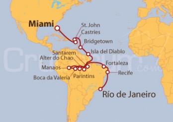 Crucero Los Paraísos y el Amazonas -  De Miami a Río