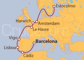Crucero De Barcelona a Estocolmo (Suecia)