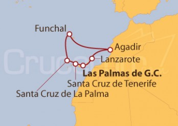 Crucero Islas Canarias, Madeira y Agadir