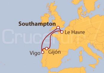 Crucero Reino Unido Península Ibérica y Francia