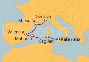 Crucero De Palermo a Génova