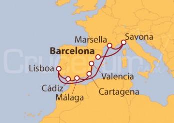 Crucero España, Italia, Francia y Portugal