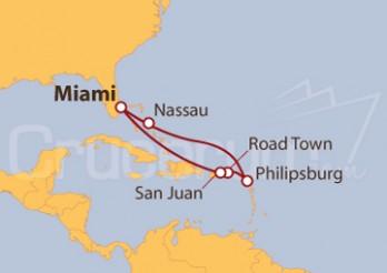 Crucero Puerto Rico, Islas Vírgenes y Bahamas