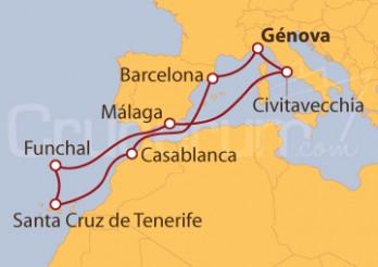 Crucero Italia, España, Marruecos y Portugal