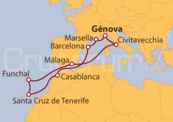 Crucero Mediterráneo, Islas Canarias y Funchal