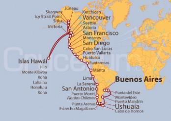 Crucero De Buenos Aires (Argentina) a Vancouver (Canadá)