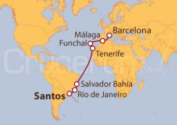 Crucero De Santos (Brasil) a Barcelona