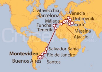 Crucero De Montevideo (Uruguay) a Venecia