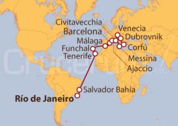 Crucero De Río de Janeiro (Brasil) a Venecia (Italia)