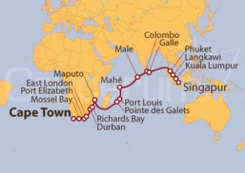 Crucero De Ciudad del Cabo a Singapur
