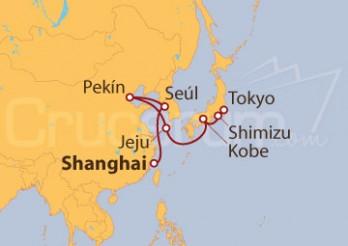 Crucero De Shangai (China) a Tokyo (Japón)