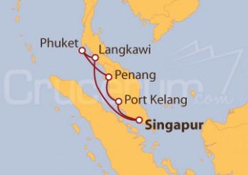 Crucero Singapur, Malasia, Tailandia