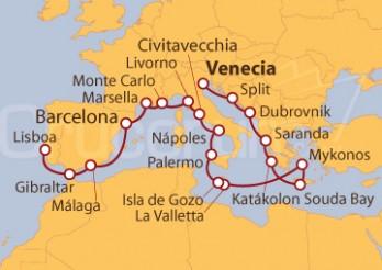 Crucero Sueño Adriático y Costas del Mediterráneo