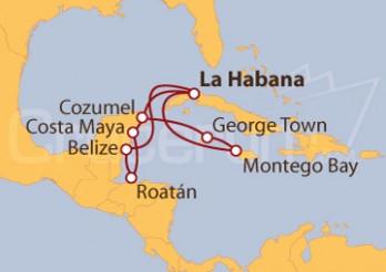 Crucero Cuba, Belice, Honduras, México, Jamaica, Gran Caimán