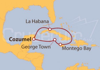 Crucero Caribe desde Cozumel (México)