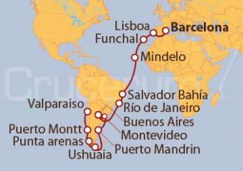 Crucero De Barcelona a Valparaíso (Chile)