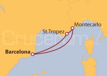 Itinerario Crucero Francia desde Barcelona