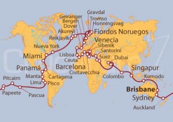 Crucero Vuelta al Mundo desde Brisbane