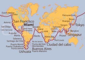 Crucero La Vuelta al Mundo en 180 días