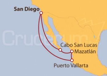 Crucero Cabo San Lucas, Mazatlan, Puerto Vallarta