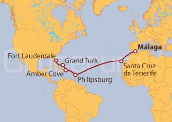 Crucero De Málaga a Fort Lauderdale (EE UU)