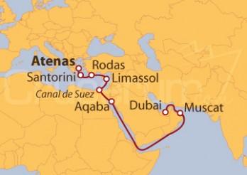 Crucero Grecia, Jordania, Emiratos Árabes