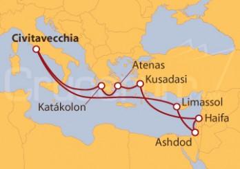 Crucero Italia, Israel, Turquía y Grecia