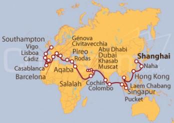 Crucero Vuelta al Mundo de Shanghái a Southampton