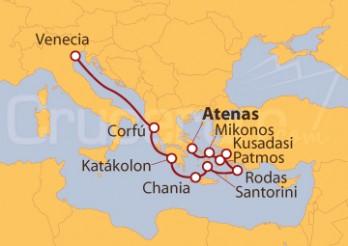 Itinerario Crucero Islas Griegas y Adriático